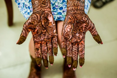 Henna Mehendi on a brides hand