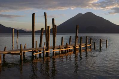 Boat dock at Lake Atitlan