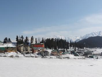 Snowy landscape in Kashmir