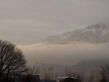 Misty morning in Kashmir valley