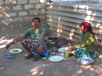 Rural India scene cooking