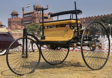 Worlds first petrol-fuelled automobile vehicle the Motorwagen (motorcar) 1886