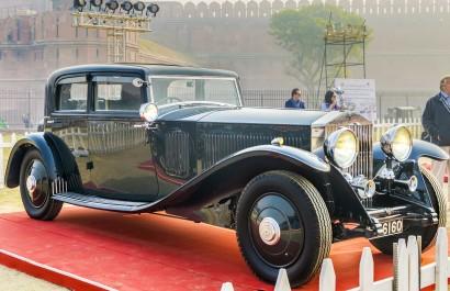 The Classic Rolls Royce Phantom III vintage saloon