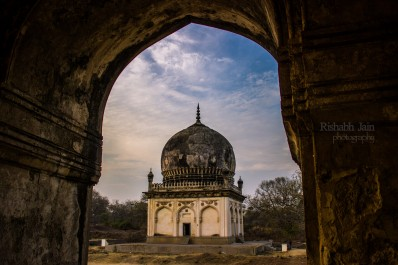A view from inside of Qutub Shahi Tomb