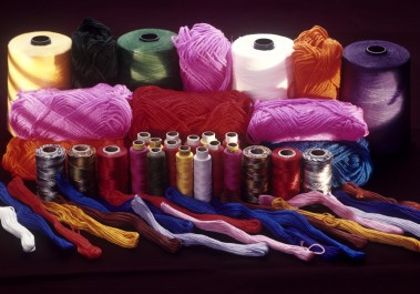 Colorful Sewing Thread and Yarn
