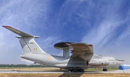 Indian Air Force AWACS Aircraft parked at Hindon Air Force Station (Eye in the Sky)