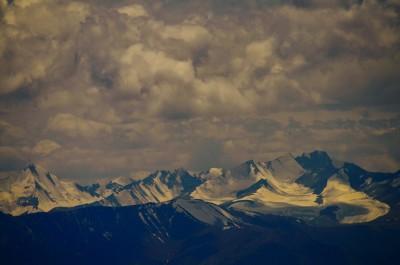 The snow clad mountain