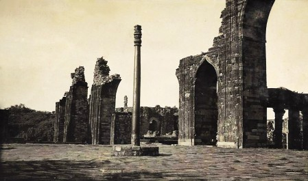 The Iron pillar in the Qutb Complex