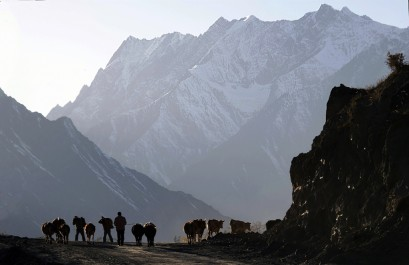 Sangla Valley the routine begins