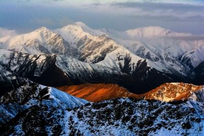 Sun trying to show up, near Khardung La,Ladakh