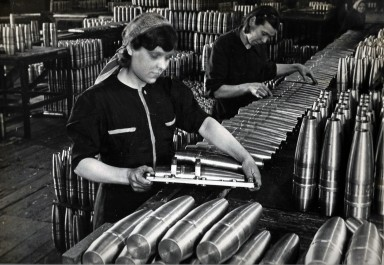 Soviet munitions factory