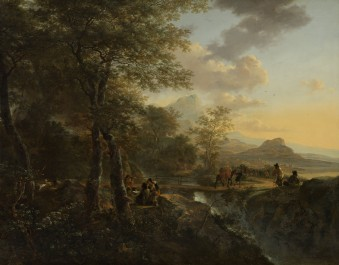 Italian Landscape with a Draughtsman, c. 1650 - c. 1652