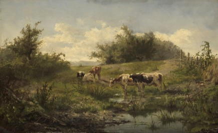 Cows at a Pond, 1856 - 1858