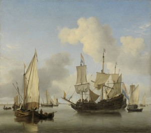 Ships at Anchor on the Coast, c. 1660