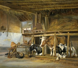 Cows in a Stable, 1820