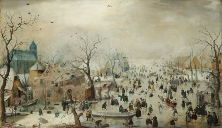 Winter Landscape with Ice Skaters, c. 1608