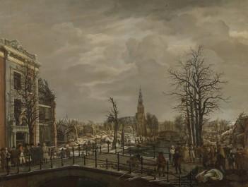The Rapenburg in Leiden, 1807
