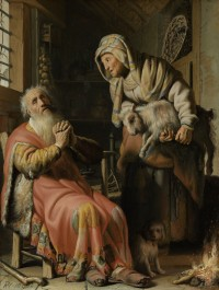 Tobit and Anna with the young goat, 1626
