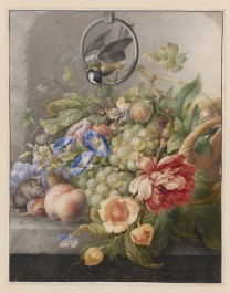 Still Life with Flowers, Fruit, a Great Tit and a Mouse, c. 1700 - c. 1710