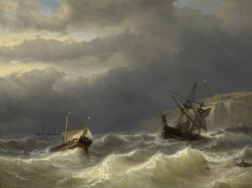 Storm in the Strait of Dover, 1819 - 1866
