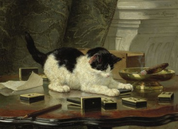 The cat at play, c. 1860 - c. 1878