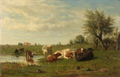 Cows in the Meadow, 1860 - 1865