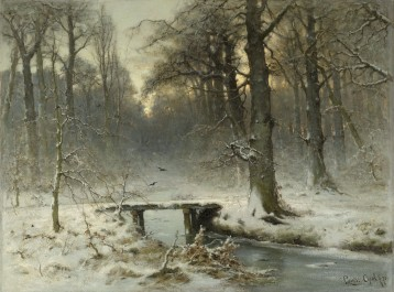 A January Evening in the Woods of The Hague, 1875