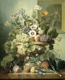 Still Life with Flowers and Fruit, 1815 - 1830