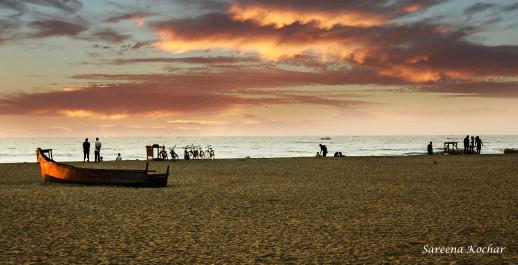 Morning beach.