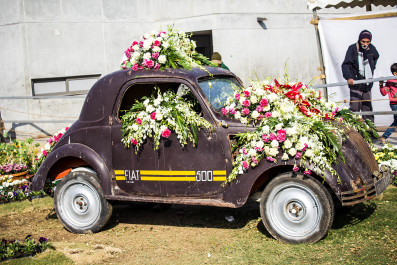 Flower Decorated Car
